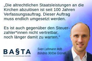 Sven Lehmann Staatsleistungen beenden